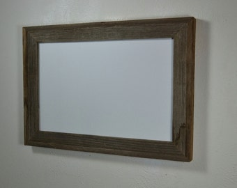 Gallery style weathered wood 11x17 poster frame