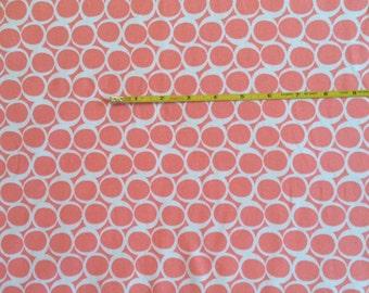Art Gallery Apricot Yogurt on cotton Lycra  knit fabric 1 yard