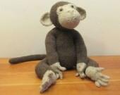 Baby Monkey Stuffed Animal, Plush Monkey, Handmade Stuffed Animals