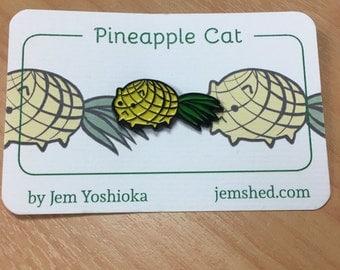 Pineapple Cat enamel pin