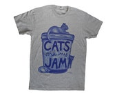 Cat Lover Gift Cats are my Jam cat shirt ready to ship christmas gift for cat mom unisex cat shirt gift plus size gift for her cat person