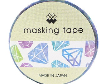Blue Diamonds Masking Tape • Diamond Mind Wave Japanese Washi Tape (92689)