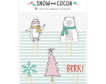 Snow & Cocoa Decorative Clips 5/Pkg (375896)