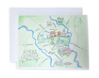 Athens, Georgia Notecard Set