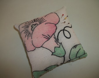Vintage Pincushion Upcycled Vintage Embroidery