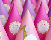 The Vintage Balloon Collection - Set of Six Custom Party Hats from Mary Had a Little Party