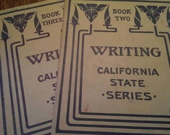 1907 Cursive Writing School Book California State Series Books  Two & Three