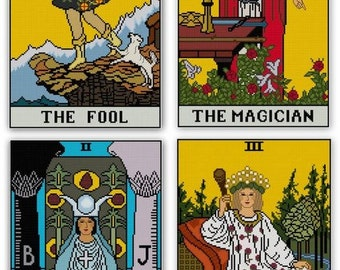 Major Arcana Tarot Cards set Cross stitch patterns PDF All 22 cards