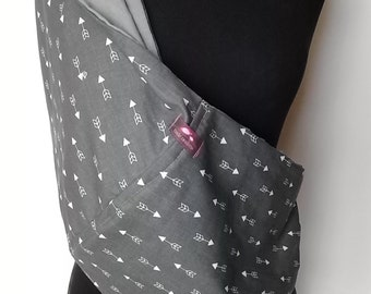 Baby Sling  Baby Carrier - Gray with White Arrows  - Second Items ships free