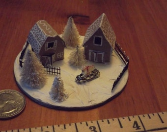 Mini Gingerbread house scene