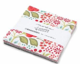 SALE Juniper Berry  5 inch charm pack Moda Fabric by BasicGrey