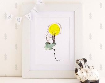 Love - Print - 4x6 - Nursery art - Nursery decor - Kids room decor - Children's art - Children's wall art - kids wall art