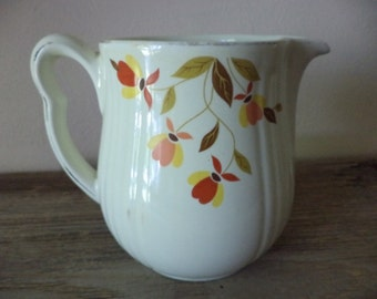 Vintage Halls Superior Autumn Leaf Kitchenware by Mary Dunbar for Jewel Tea water pitcher