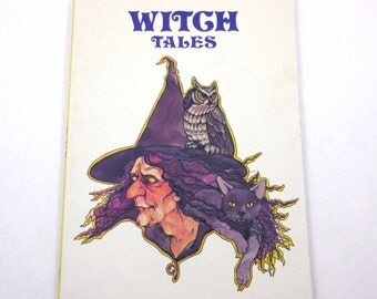 Witch Tales Vintage 1980s Children's Book by Corinne Denan Illustrated by Pamela Baldwin Ford