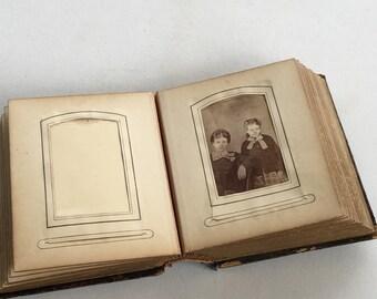 Victorian Photo Album Leather Cover Antique