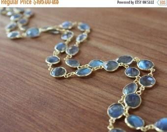 ON SALE FLAWLESS Labradorite bezeled stone Necklace- Gold Filled
