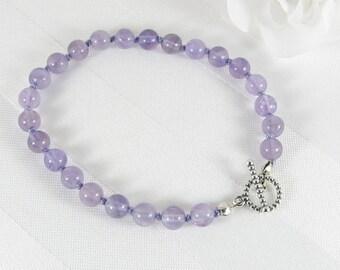 Hand-Knotted Lavender Amethyst Bracelet