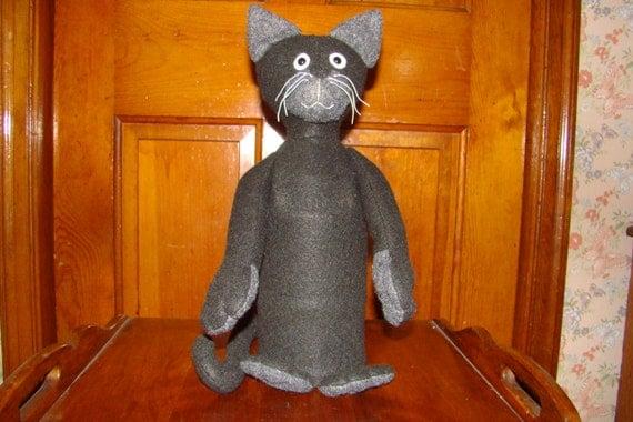 Amigurumi Black Cat Door Stopper : Felt Black Cat Wine Bottle Cozy Cover Doorstop Door Stop ...