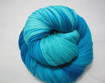 Shades of Caribbean - Dyed to Order - Hand Dyed - Merino Wool Yarn - Fingering Weight