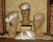 Reserved for Candace 8  Bridal Bonnets Millinery Hat Frame / Forms Ready to be Decorated #12