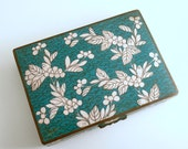 Vintage Cloisonne Box Trinket Box Hinged Box Chinese Antique Card Box