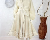 ON SALE Winter White Sweater Coat/ Bridal Coat/Fully Lined/Up cycled Coat Size Small/ Marilyn Coat/ Size 4-6