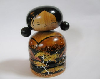 The cutest bobble head Kokeshi ever