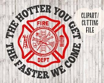 funny firefighter svg, fireman svg, fire department svg, fireman clipart, shirt svg, vinyl decal svg, tshirt designs, cut cutting files, htv