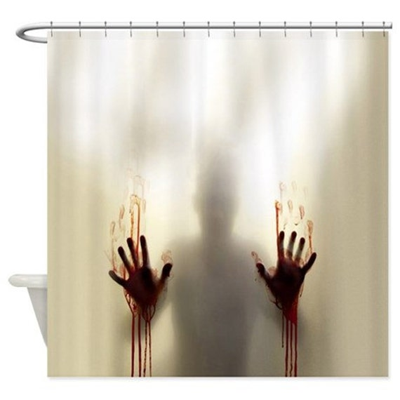 Scary Zombie Halloween Psycho Shower Curtain