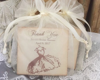 Bridal Shower Favors Tea Bag Favors Thank You Personalized