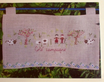 Cross Stithc Pattern, Countryside Pattern, Counted Cross Stitch Pattern by La Sylphide Toquee, Cote Campagne AM10 FN