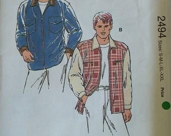 Kwik Sew Mens Shirt Pattern 2494