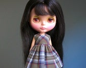 all apologies vintage plaid grunge dress for blythe dolls