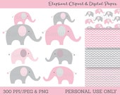 Cute Pink Elephant Clipar...