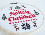 Nollaig Chridheil Sampler Counted Cross Stitch Pattern, Christmas Pattern, Gaelic Christmas, pdf, digital download