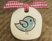 Bluebird ceramic magnet, Clay magnet, pottery magnet, bluebird magnet, refrigerator magnet