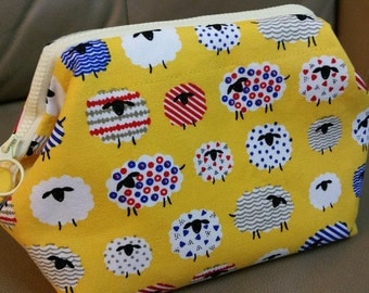 Cosmetic Frame Pouch. Little Sheep