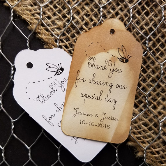 Thank you for Sharing our Special Day MEDIUM Personalized Wedding Favor Tag  choose your amount