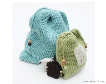 TUNISIAN CROCHET PATTERN - Drawstring Gift Bags - Instant Download (pdf)