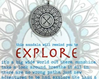 Explore Hand Drawn Mandala Pendant