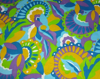vintage 60s novelty fabric featuring great large scale print, 1 yard, 3 available priced PER YARD