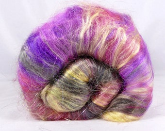 Deluxe Smooth Drum Carded Fiber Batt for Spinning and Felting- Prince of Persia