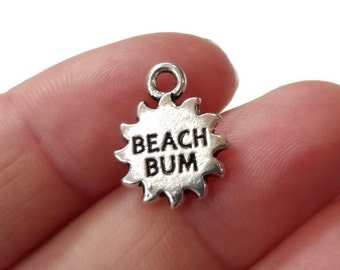 "4, ""BEACH BUM"" Sunshine Charms 13x16mm ITEM:BI27"