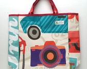 Upcycled Vinyl Banner Reusable Tote