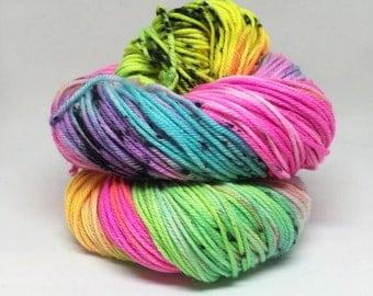Dyed to order Hand Dyed Yarn - Toxic Nebula