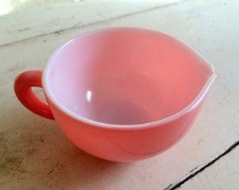 One Vintage Hazel Atlas Pink Crinoline Cream Creamer - Dishes -