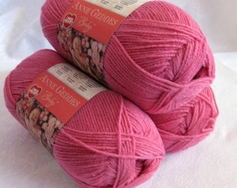50% off - Red Heart yarn, TAFFY pink, light worsted weight yarn, sport weight yarn, Anne Geddes yarn