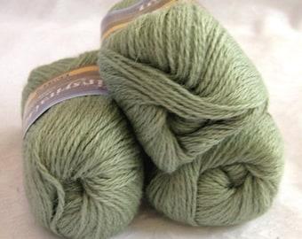 50% off - MOSS GREEN Alpaca yarn blend, worsted weight, SWTC Inspiration, Success (395)