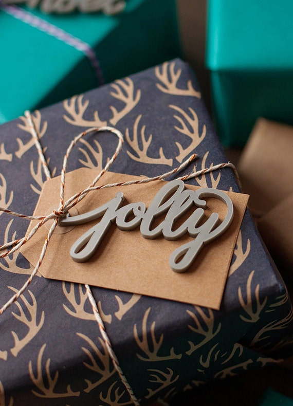 Christmas gift tags calligraphy hand lettered holiday