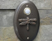 Dragonfly Doorbell Wired Craftsman Oil Rubbed Bronze Arts and Crafts